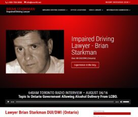 Impaired Driving Solutions – Lawyer Brian Starkman DUI/DWI (Ontario)